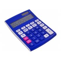 Калькулятор настільний Optima 12 розрядів, розмір 146*105*26 мм, синій