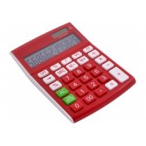 Калькулятор настільний Optima 12 розрядів, розмір 146*105*26 мм, червоний