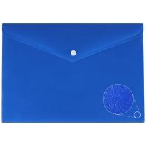Папка-конверт А4 непрозора на кнопці, фактура помаранч, асорті