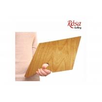 Палітра дерев'яна, прямокутна,ергономічна, промаслена, 30x40см, ROSA Gallery
