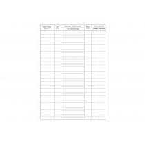 Реєстр бланків суворої звітності єдиної первинної транспортної документації формат А4 24 аркуші офсе