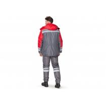 """Куртка утеплена """"Карпати"""" червоно-сіра, р. XXL (60-62), зріст 182-188 см"""