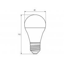 Лампа ЕКО EUROLAMP LED серія  А60 10W E27 3000K