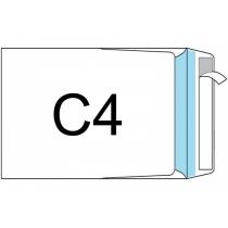 Конверт C4 (0+0) скл, бічний клапан, 90г/м2, 1 шт