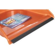Набір для прибирання Economix cleaning: совок + щітка з хромованою ручкою, 25х85 см (коричневий)