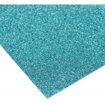 Картон з блискітками 290±10 г/м 2. Формат A4 (21х29,7см), блакитний