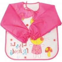 Фартух для дитячої творчості рожевий, 35 x 40 см