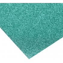 Картон з блискітками 290±10 г/м 2. Формат A4 (21х29,7см), бірюзовий