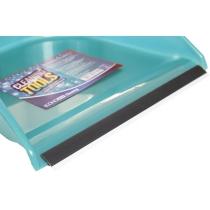 Набір для прибирання Economix cleaning: совок + щітка з хромованою ручкою, 25х85 см (бірюзовий)