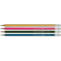 Олівець чорнографітний Optima TRI GRIP HB корпус асорті, загострений, з гумкою