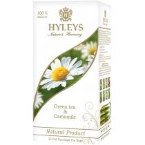 Чай зелений з ромашкою пакетований Hyleys 25шт х 1,5г