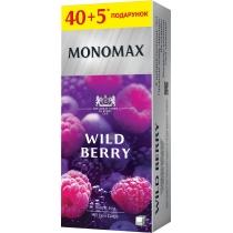 Чай чорний з ароматом лісових ягід пакетований МОNОМАХ WILD BERRY 40+5шт х 1,8г