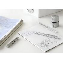 Ручка кулькова автоматична Faber-Castell Grip 2011 у срібному корпусі