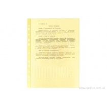 "Файл для документів А4+ Optima, 40 мкм, фактура ""глянець"", жовтий (100 шт/уп)"
