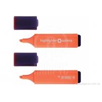 Маркер текстовиділювач OPTIMA 1-4 мм, помаранчевий